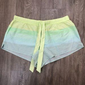 Victoria's Secret Blue & Green Striped Shorts